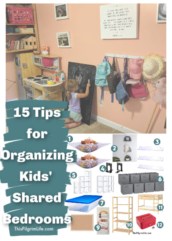 Sharing a bedroom can create unique challenges, but these tips for organizing kids' shared bedrooms will help make it easier for kids to keep their rooms tidy, have their own personal spaces, and keep important items safe.