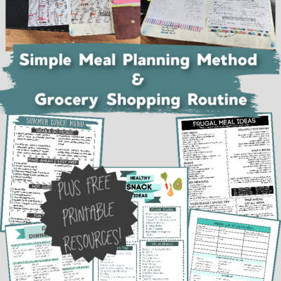Simple Meal Planning & Grocery Shopping Routine
