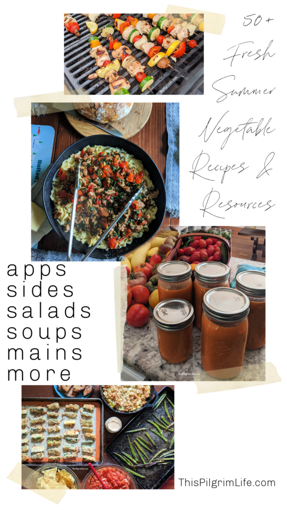 Fresh and vibrant produce is abundant in summer time, but when there's so much, it can be hard to figure out what to do with it all. Check out this delicious list packed with summer vegetable recipes for appetizers, sides, main dishes, soups, and even ways to put up and enjoy the seasonal goodness later in the year!