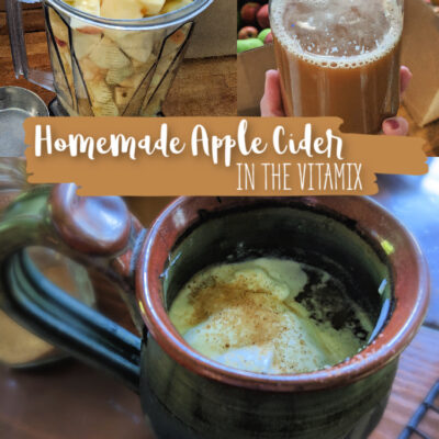 Homemade Apple Cider in A Vitamix