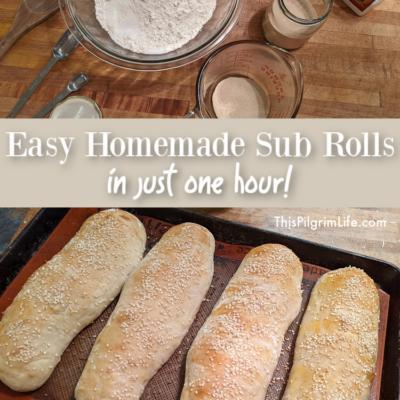 Easy Sub Rolls