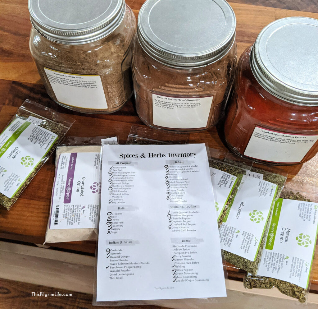 Keeping spices and herbs stocked in your kitchen yields easier and tastier cooking! Check out this printable basic spices list and tips for keeping your spices and herbs fresh and optimal