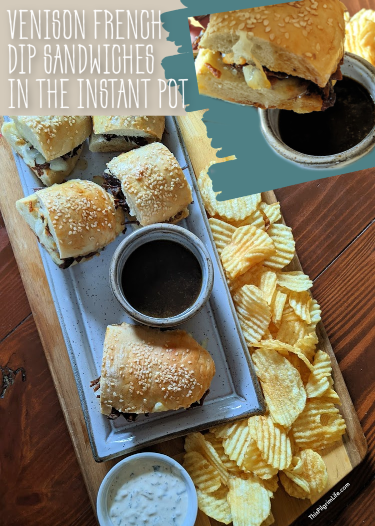 Perfectly savory and tender venison French dip sandwiches made in the Instant Pot, plus ideas for repurposing the leftovers for two additional delicious and freezer-friendly meals!