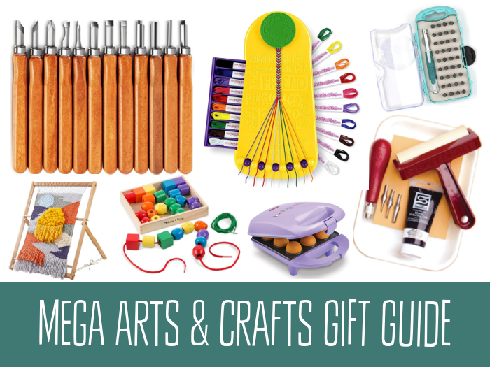 More than 75 craft gift ideas for anyone creative on your list! Fine arts, textiles, preschool crafts, woodworking, and MORE!