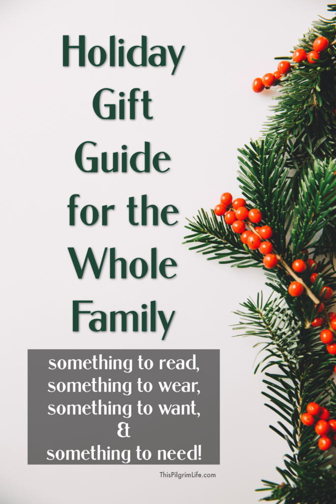"""Here is our annual holiday gift guide for the whole family– what we have loved and enjoyed this year AND what will be under our tree! Get fresh inspiration for """"what to wear, what to read, what to want, and what to need"""" for all your last minute shopping!"""