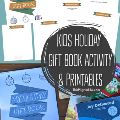 Kids Holiday Gift Book Activity & Printable