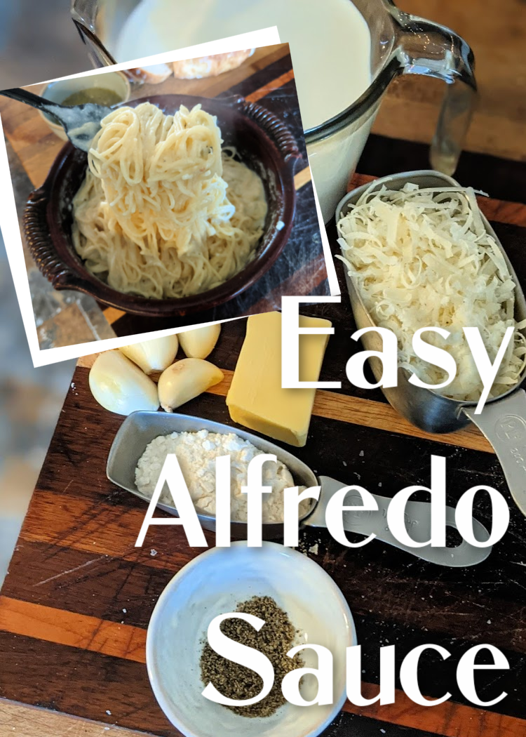 Creamy Alfredo sauce is so quick and easy to make on the stovetop with just a handful of ingredients! Serve it with pasta, as a pizza sauce, in between lasagna layers, and more.