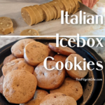 Our family recipe for icebox cookies-- crisp and studded with nuts. So perfect with a hot cup of tea or coffee!