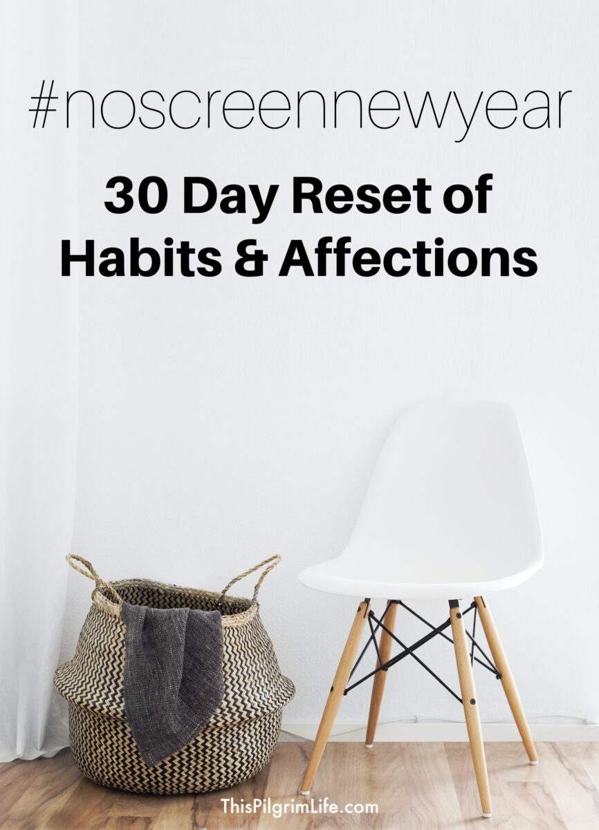 Every year we take a break from screens at the start of the year to help us reset our habits and affections as a family. It's usually much-needed after the holidays and so helpful! This year I'm sharing more about it and inviting others to join in!