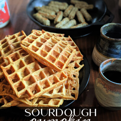Sourdough Pumpkin Waffles