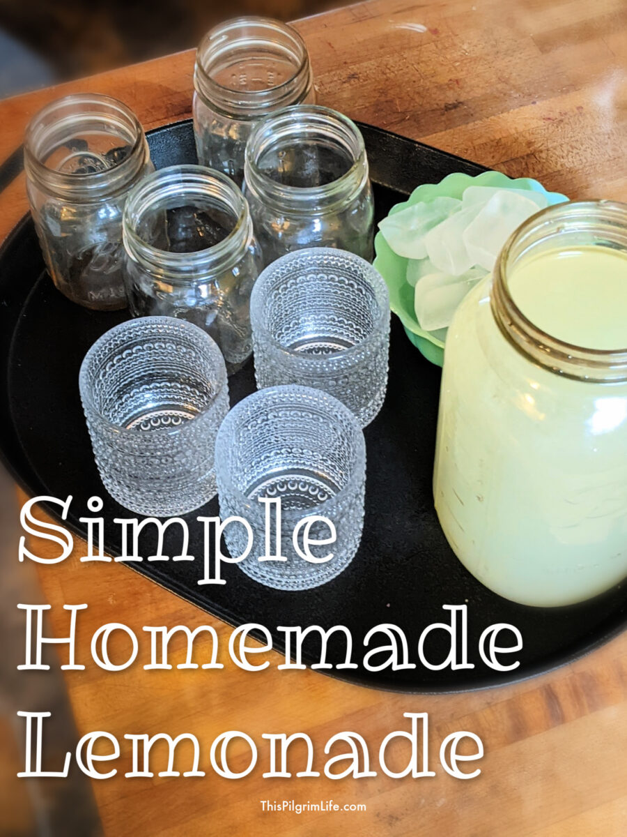 Perfect homemade lemonade in just five minutes with just three ingredients. Simple and refreshing!