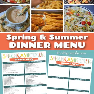 Spring & Summer Dinner Menu (with Free Printable)