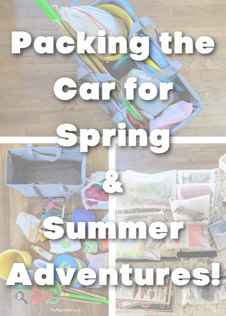 What to pack in the car for MORE fun, LESS stress and mess, to have EVEN BETTER adventures this spring and summer!