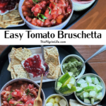 Tomato bruschetta is so quick and easy to make, and when made with in-season tomatoes, bursts with amazing summer flavor! It is bright and fresh and is best enjoyed atop slices of good quality bread or crackers.
